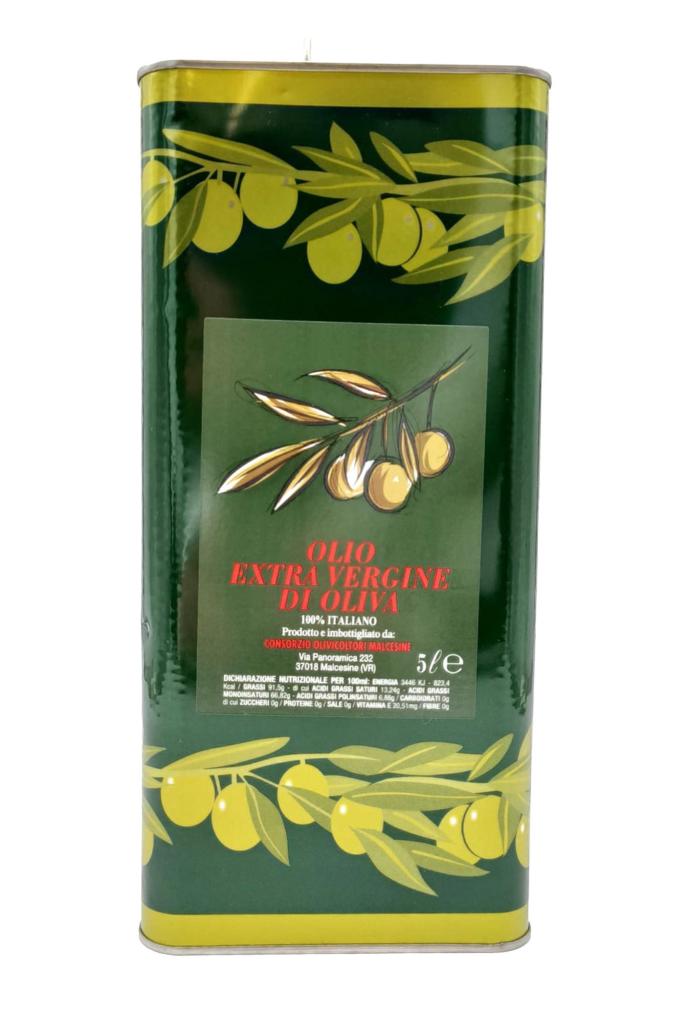 Neues Natives Olivenöl Extra 5 L<br>hergestellt und abgefüllt in Malcesine